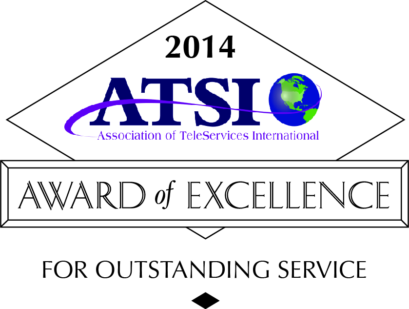 Answering Innovations answering service earns 2014 ATSI Award of Excellence.